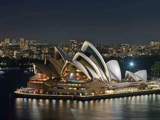 The Sydney Opera House is an iconic bulding in Sydney. This is seen from Harbour Bridge.
