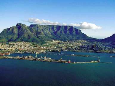The majestic Table Mountain in Cape Town.