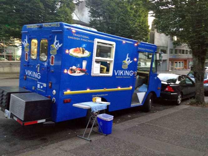 Viking Pancakes food truck in Vancouver.