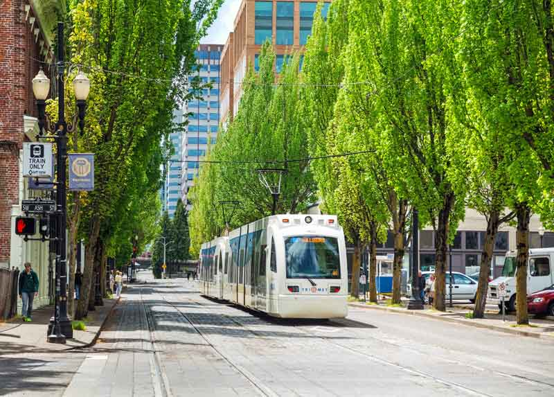 Streetcar in Portland, Oregon.