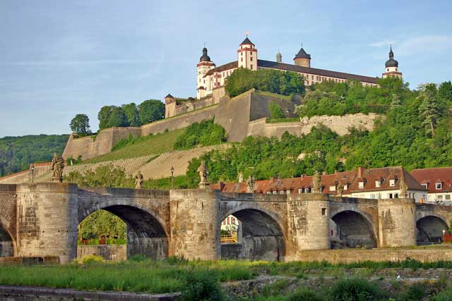 Marienberg Fortress in Würzburg is spectacular.