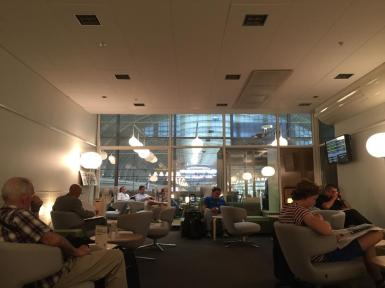 Inside the First Class Lounge at Stockholm Central Station.