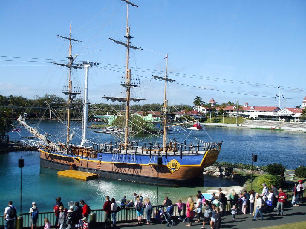 Ship at Sea World, Queensland, Australia.