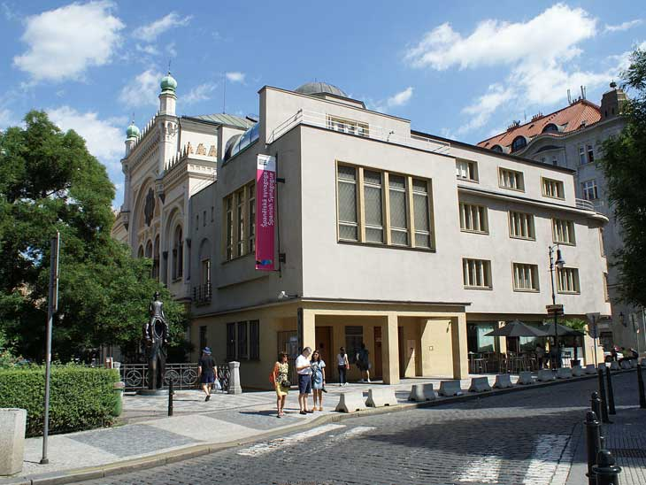 The Jewish Museum in Prague is housed in a functionalist building, which was a former hospital and Spanish Synagogue.