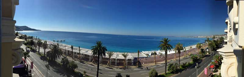 view from Hotel Le Royal in Nice