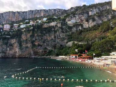 Plage Mala is nestled between high cliffs and extremely beautiful.