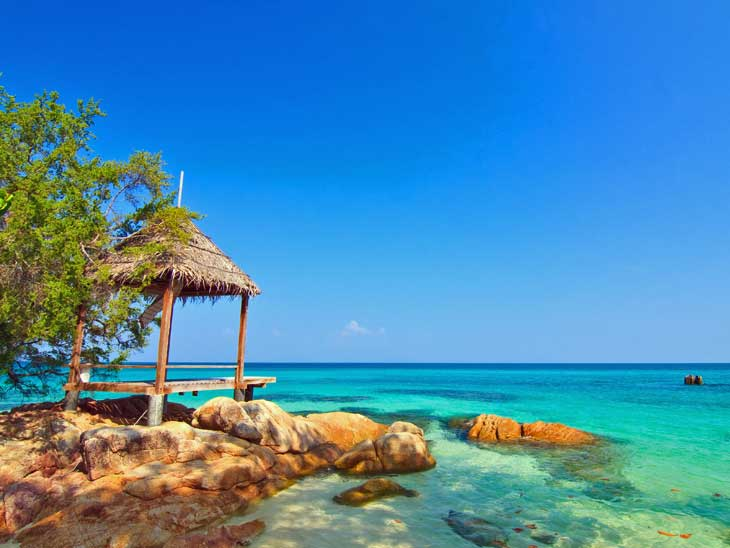 The Rayong province offers tranquil beaches.