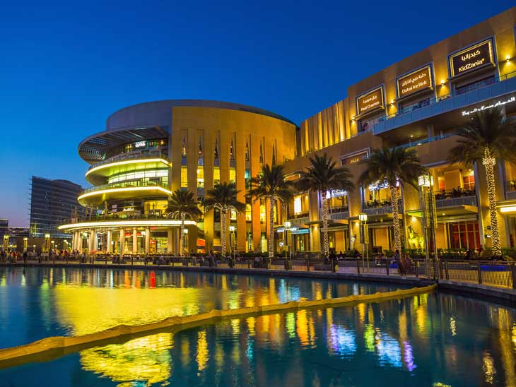 Exterior of Dubai Mall.