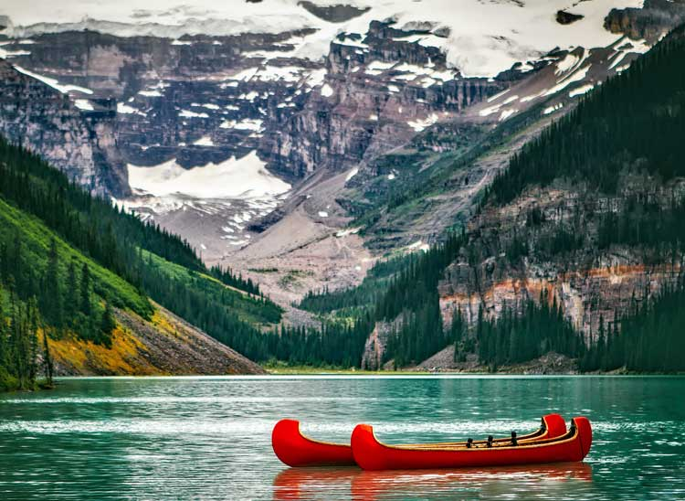Wilderness like this will make you humble. This is Lake Louise.
