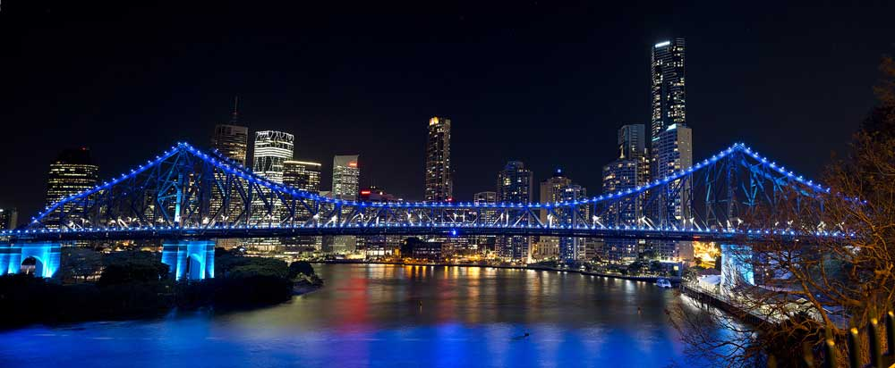 Brisbane at night.
