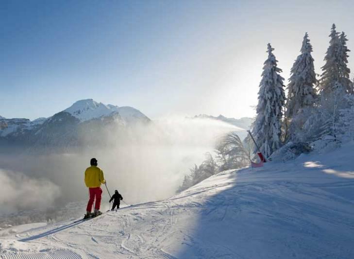 Morzine ski area is beautiful.