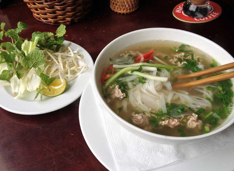 Vietnam´s national dish: Pho.