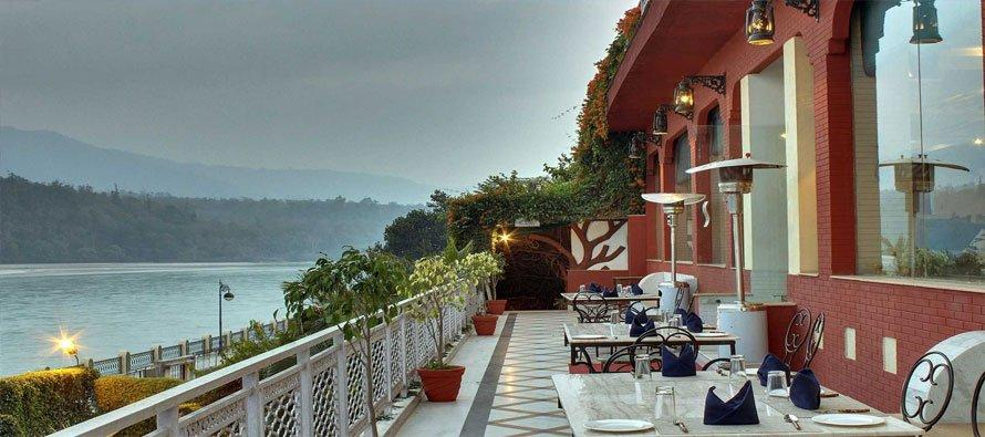 Glass House on the Ganges in Rishikesh.