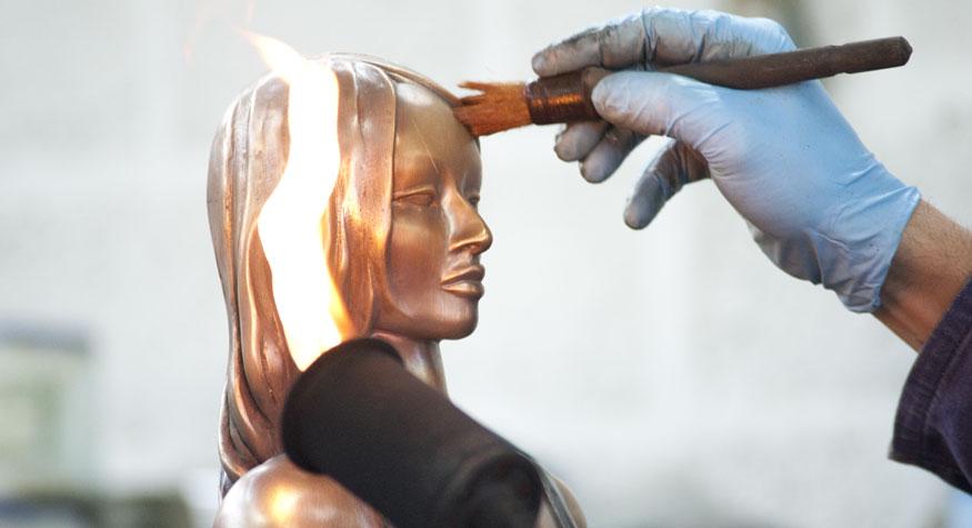 musa pietrasanta lavorazione statua