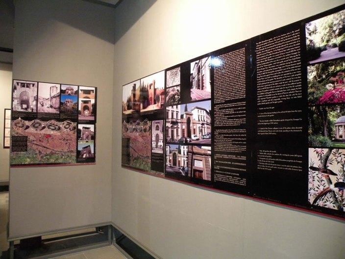 Le mura di Firenze dettaglio tavole espositive
