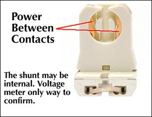 Lampholder Wiring Diagram Shunted Vs Non Shunted Sockets Thinklite Llc