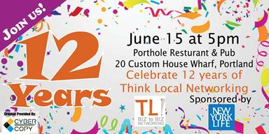 June1 – 4:  Wells is on Thursdays;  June 8 – Social in Wells!;  12 Year Celebration is on the 15th!