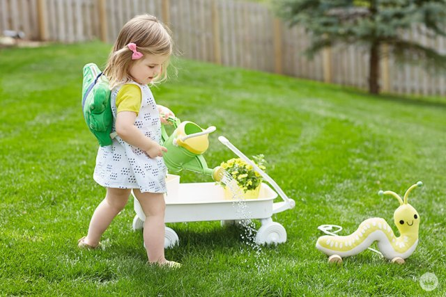Girl decked out in Cute Critters from Hallmark Baby