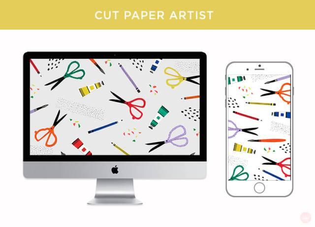 FREE AUGUST 2018 DIGITAL WALLPAPERS cut paper supplies art