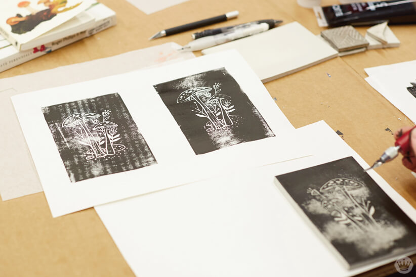 Block Printing Workshop | thinkmakeshareblog.com