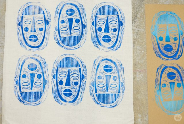 Rubber stamp prints