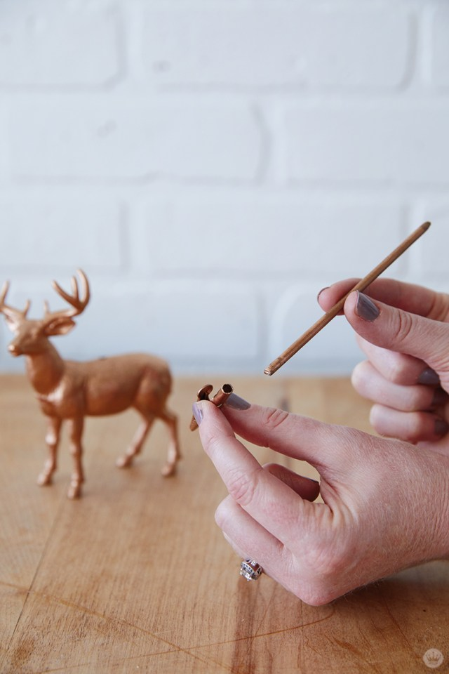 Supplies for Gilded Deer Christmas Card Holders
