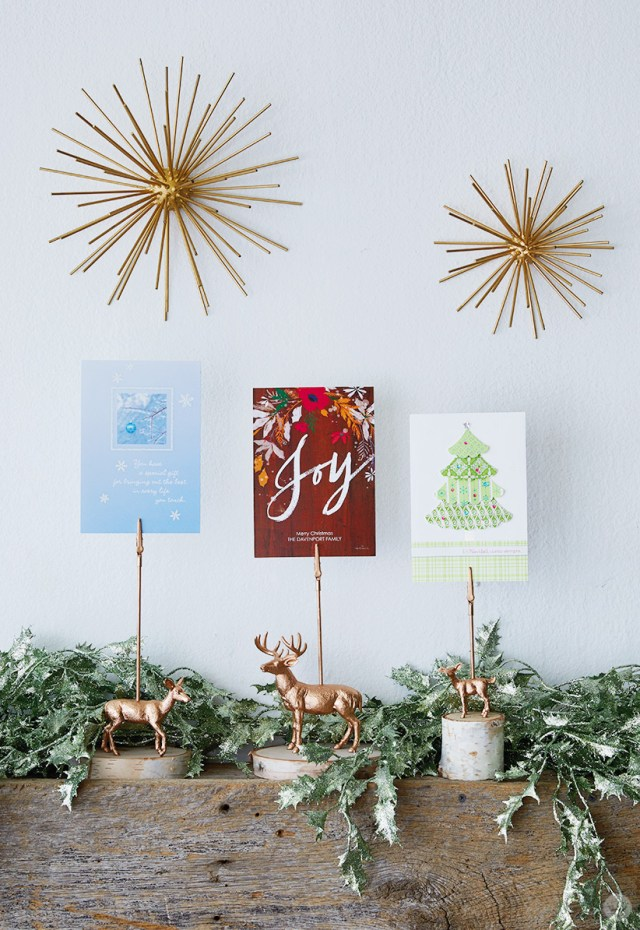 Gilded Deer Christmas Card Holders