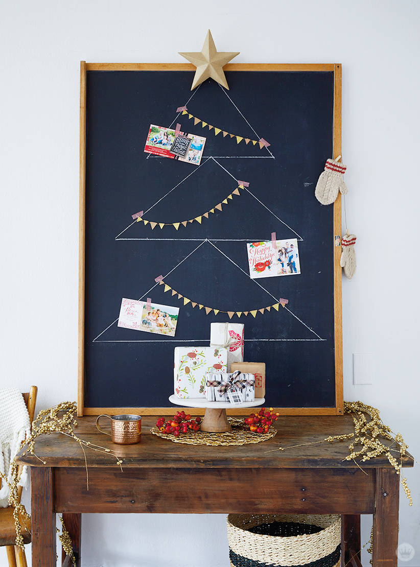 6 DIY Christmas card holder and display ideas - Think.Make.Share.