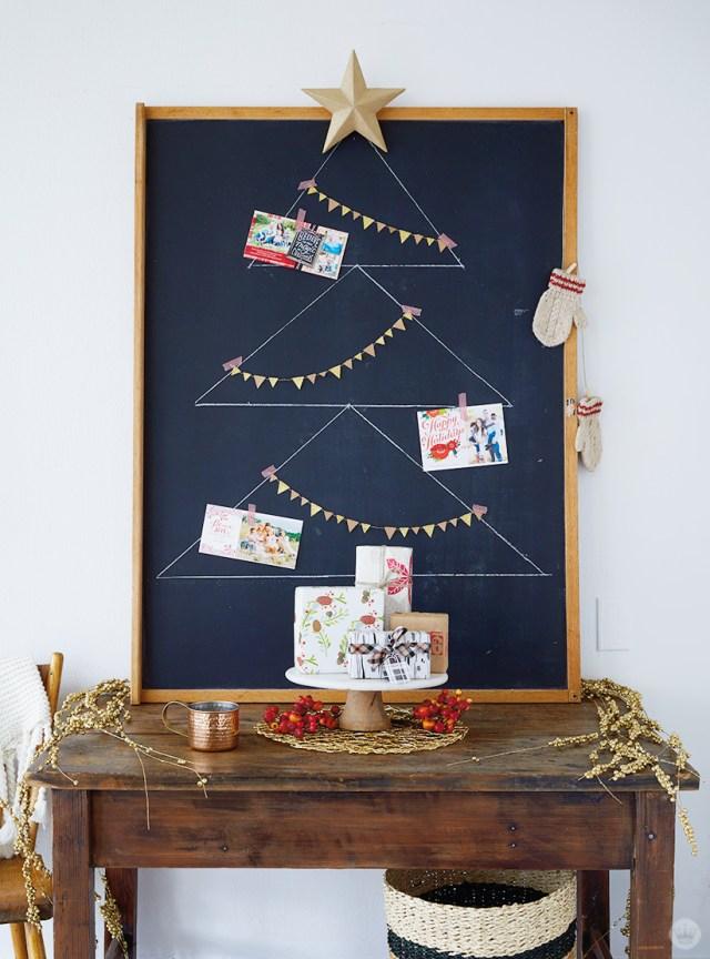 Chalkboard Holiday Card Display