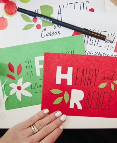 Christmas Card Sending Challenge   thinkmakeshareblog.com