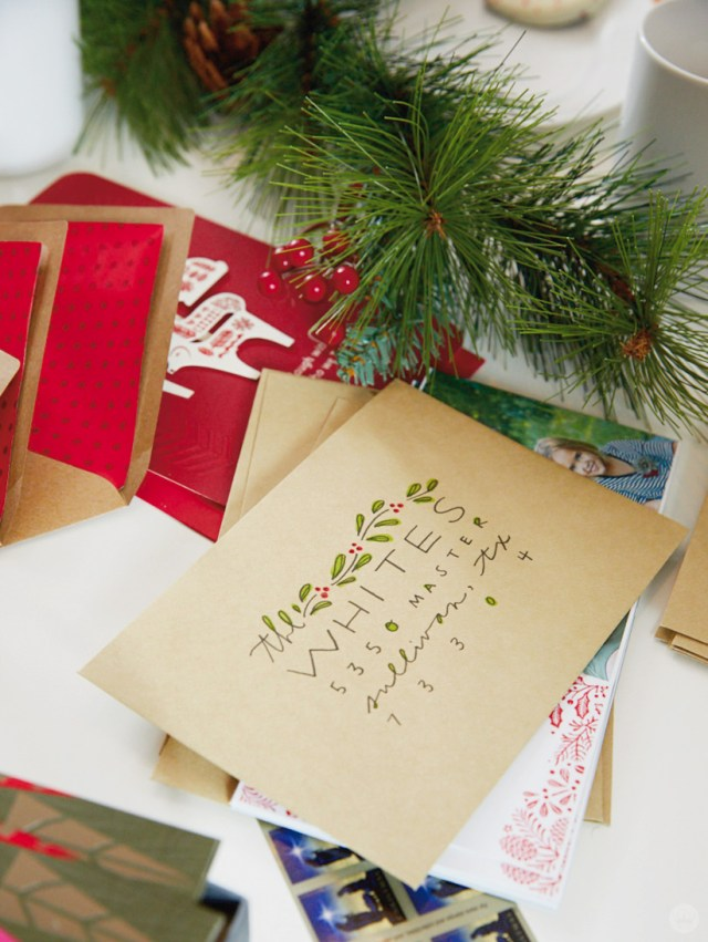 Christmas Card Challenge: decorated envelope