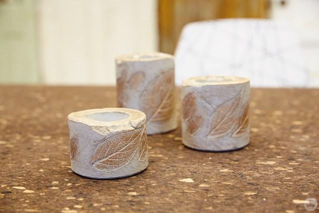 Vases en béton bricolage