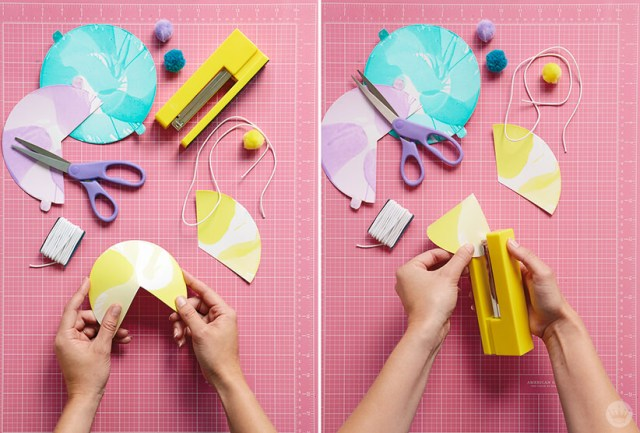 Using Crayola® Spin Art to make party hats