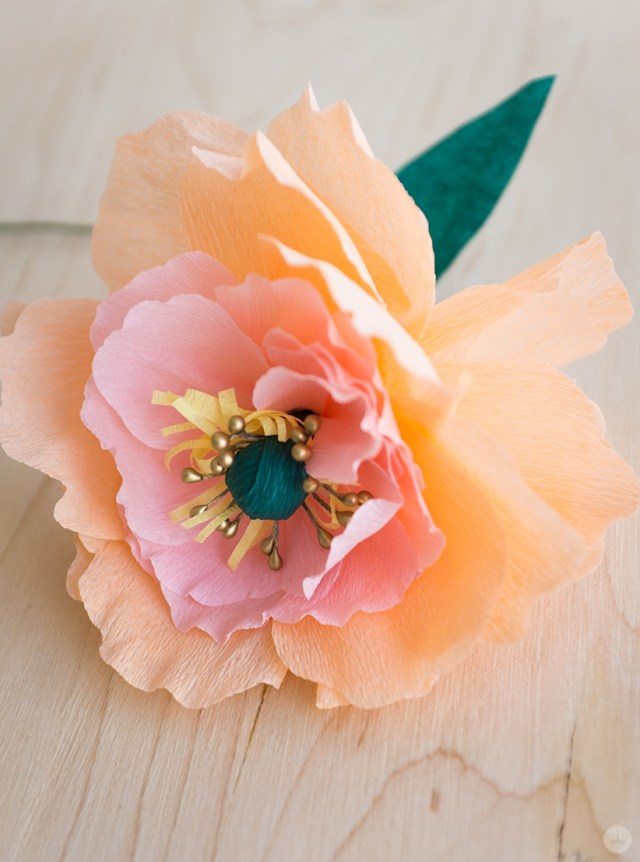 Crepe Paper Flowers Diy Pretty Peonies Thinkkeare
