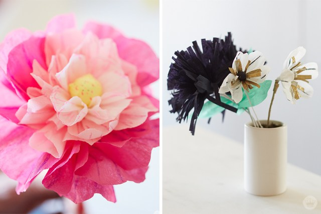 Crepe Paper Flowers Diy Pretty Peonies Thinkkeare