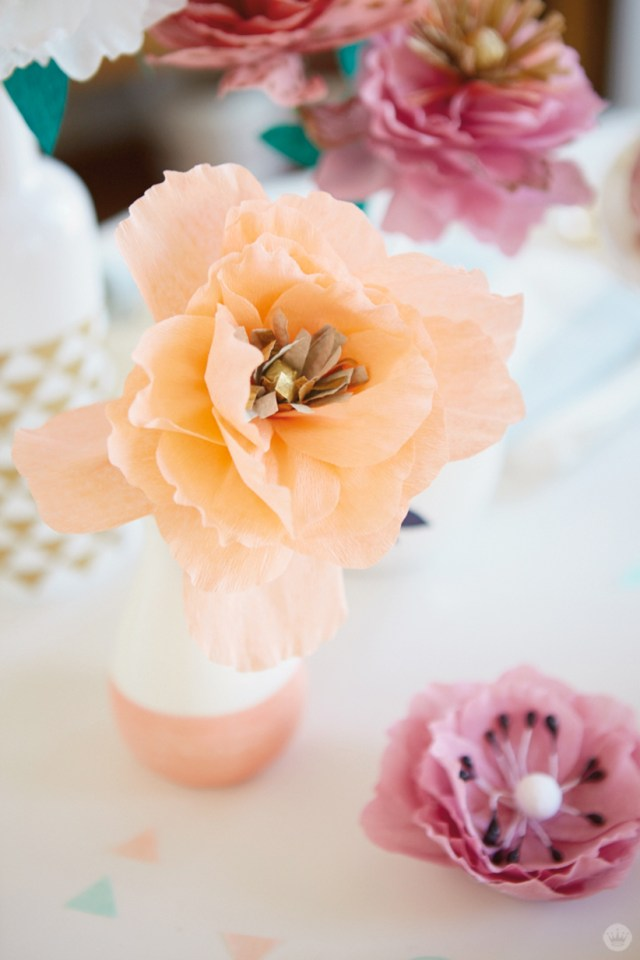 Crepe Paper Flowers Diy Pretty Peonies Think Make Share