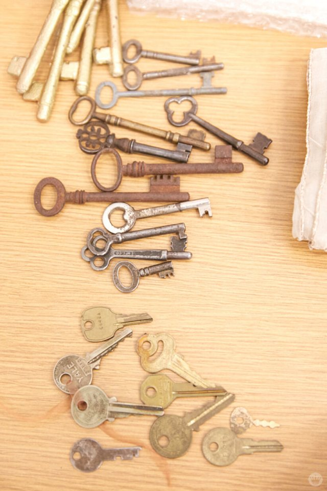Keys for use in cyanotype workshop