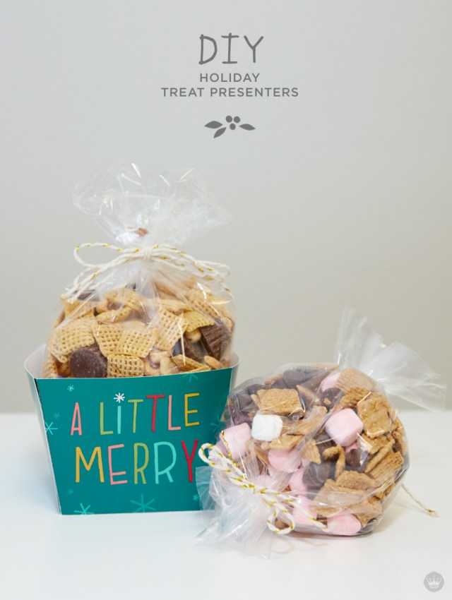 DIY Holiday Treat Presenters from Hallmark with Free Downloadables | thinkmakeshareblog.com