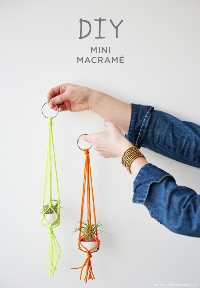 DIY Mini Macrame Hangers from Hallmark | thinkmakeshareblog