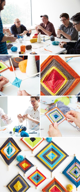 DIY Ojo de Dios craft | thinkmakeshareblog