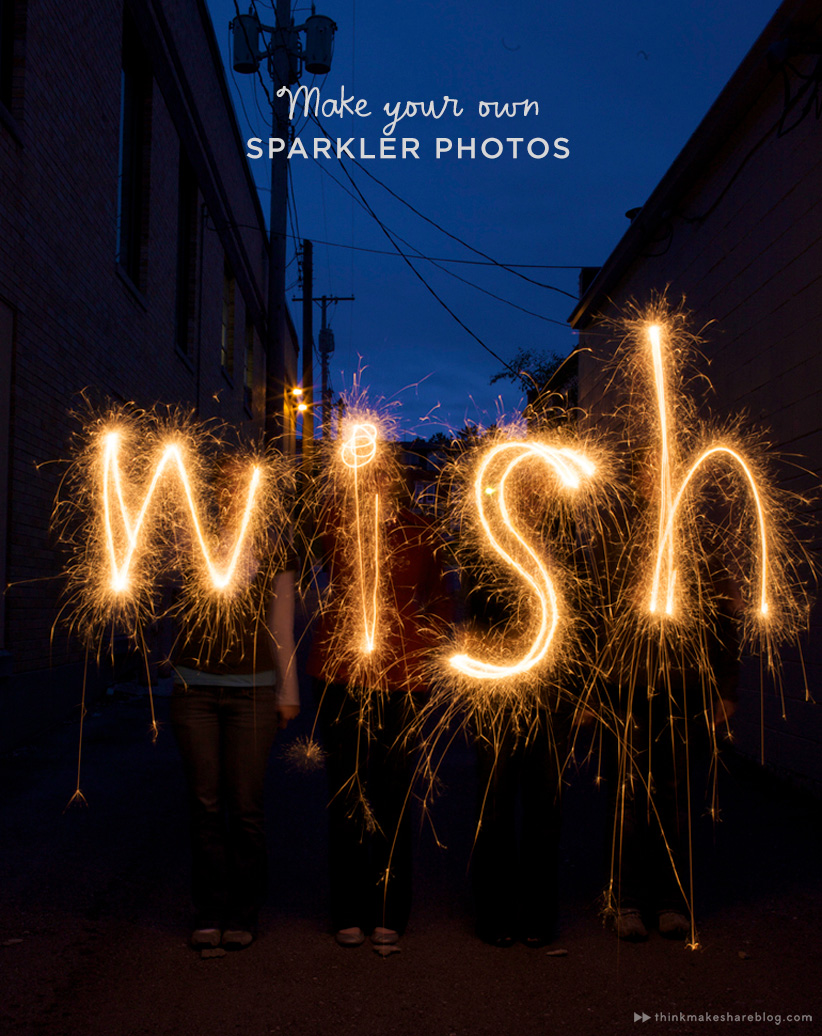 e49b6d94c4 How to write with sparklers  An easy July 4th Party Idea - Think ...