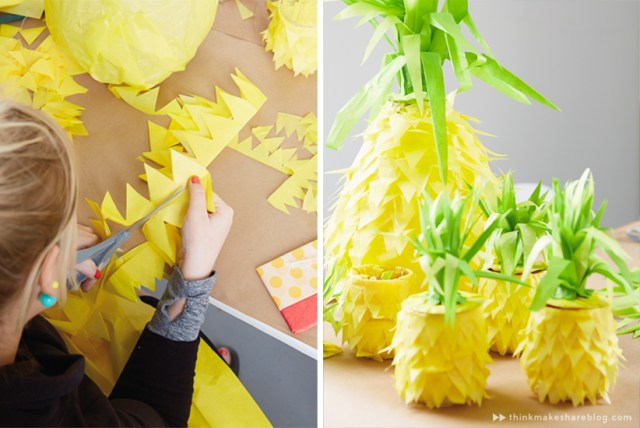 DIY Summer Pinatas | Pineapples | thinkmakeshareblog.com