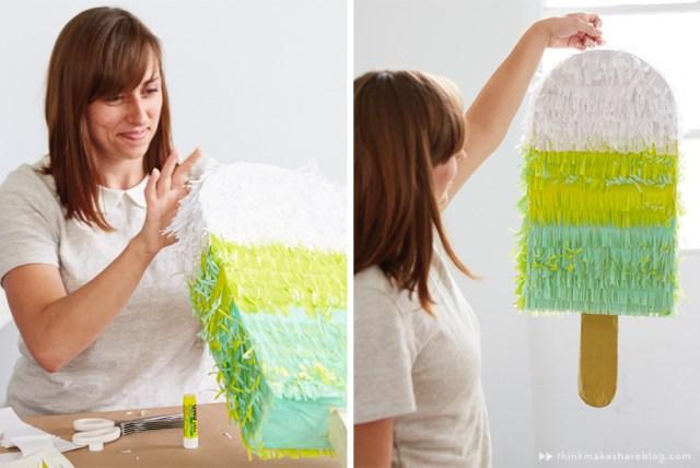 DIY Summer Pinatas | Popsicle | thinkmakeshareblog.com