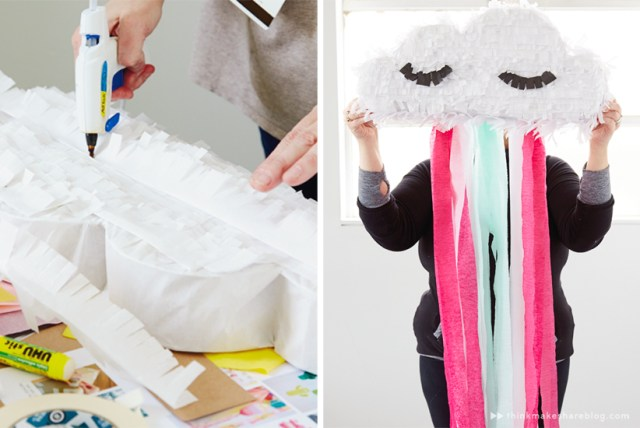 DIY Summer Pinatas | Rain Cloud | thinkmakeshareblog.com