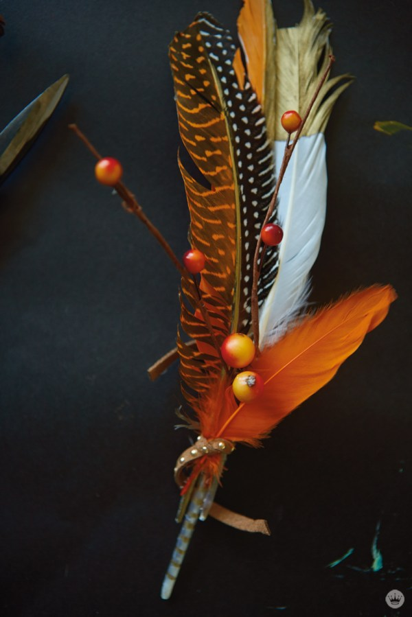 Diy Beautify Fall With Painted Feathers - .make.share