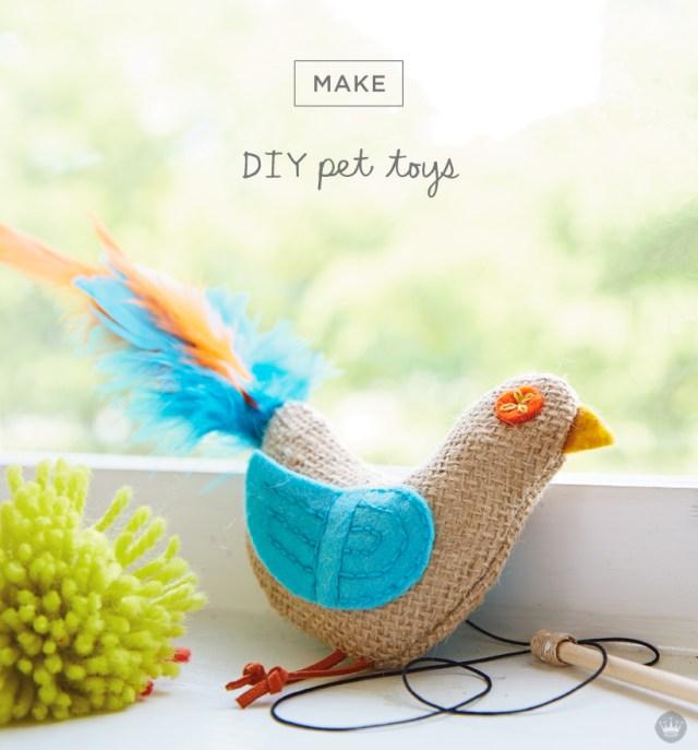 DIY pet toys with Hallmark artists | thinkmakeshareblog.com