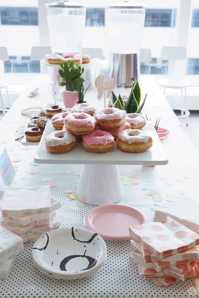 Donuts on a platter for National Donut Day