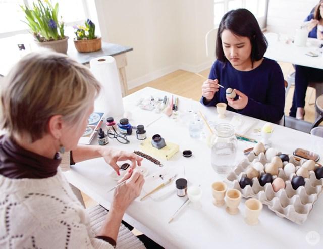 Easter Egg Decorating Workshop | thinkmakeshareblog.com
