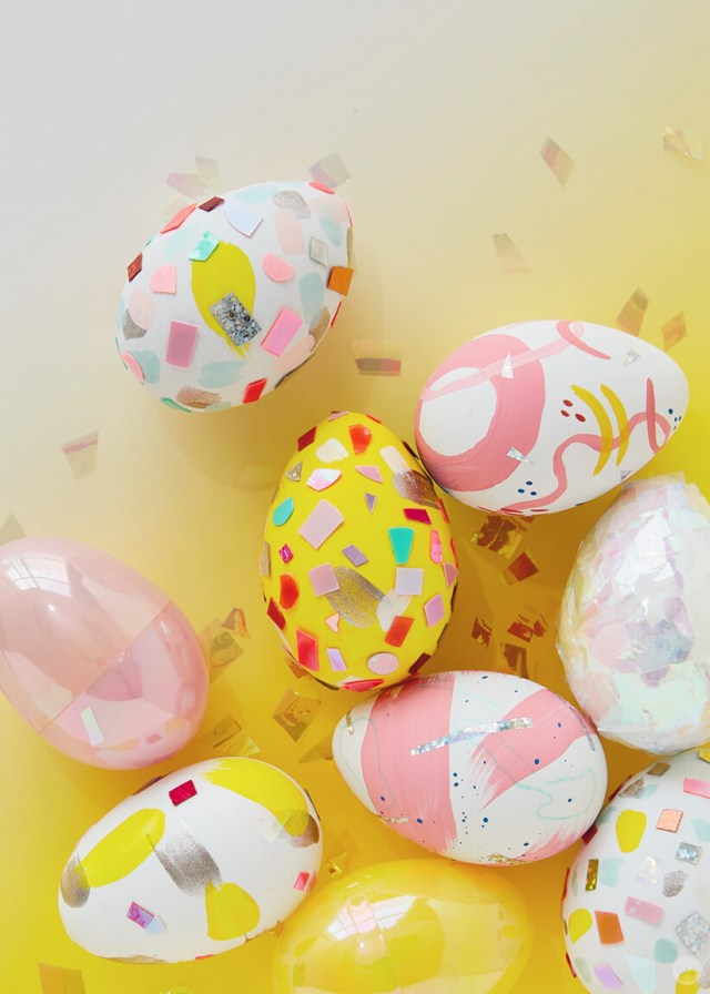 2019 Easter egg decorating ideas: Eggs covered in confetti