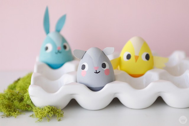 Painted Easter egg characters | thinkmakeshareblog.com